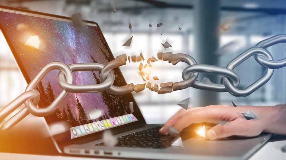 Weak Link Of A Broken Chain Exploding 3d Render