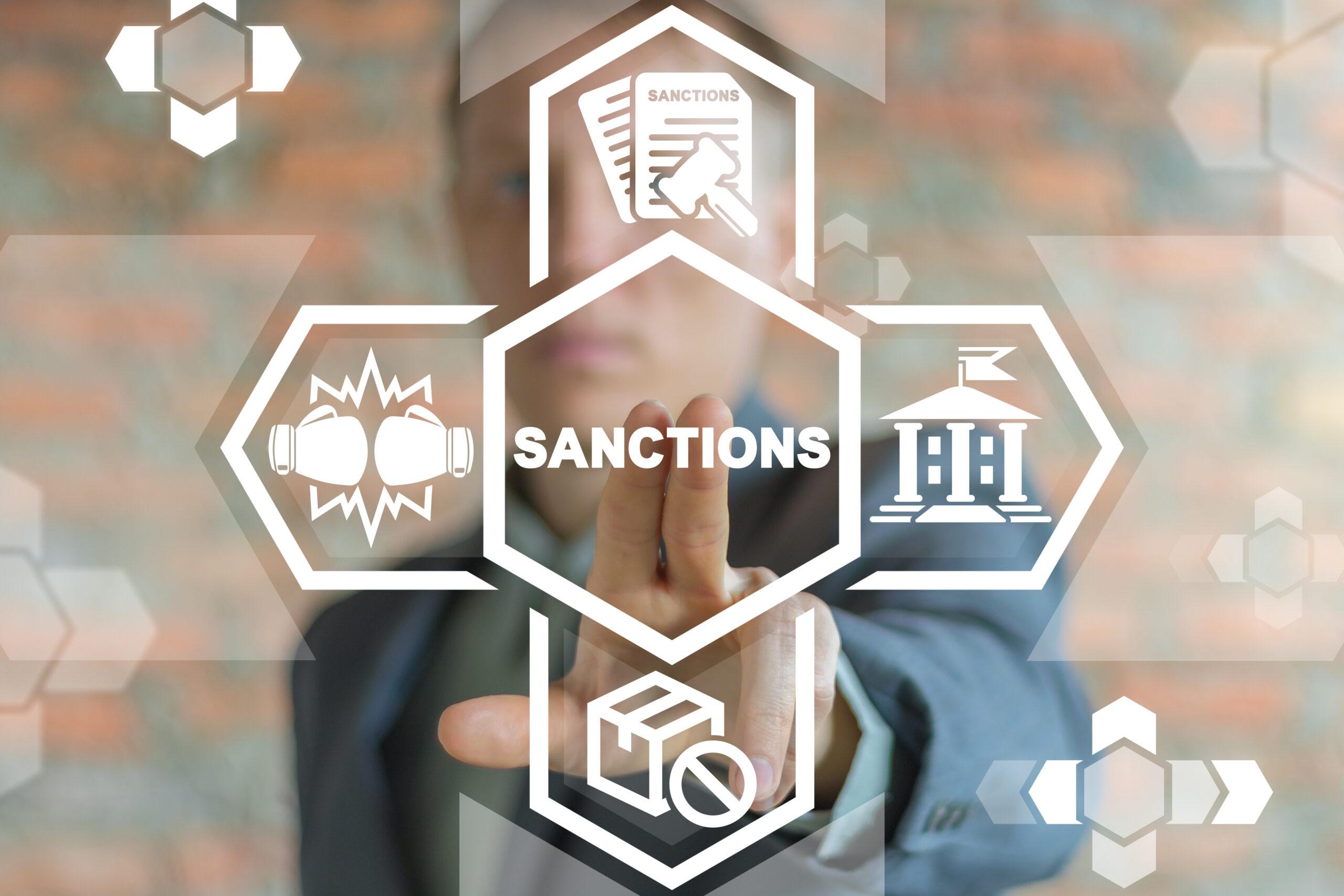 Political And Economy Concept Of Sanctions. Sanction List Government.