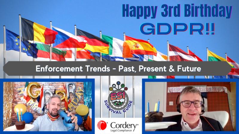 Happy 3rd Birthday Gdpr!!