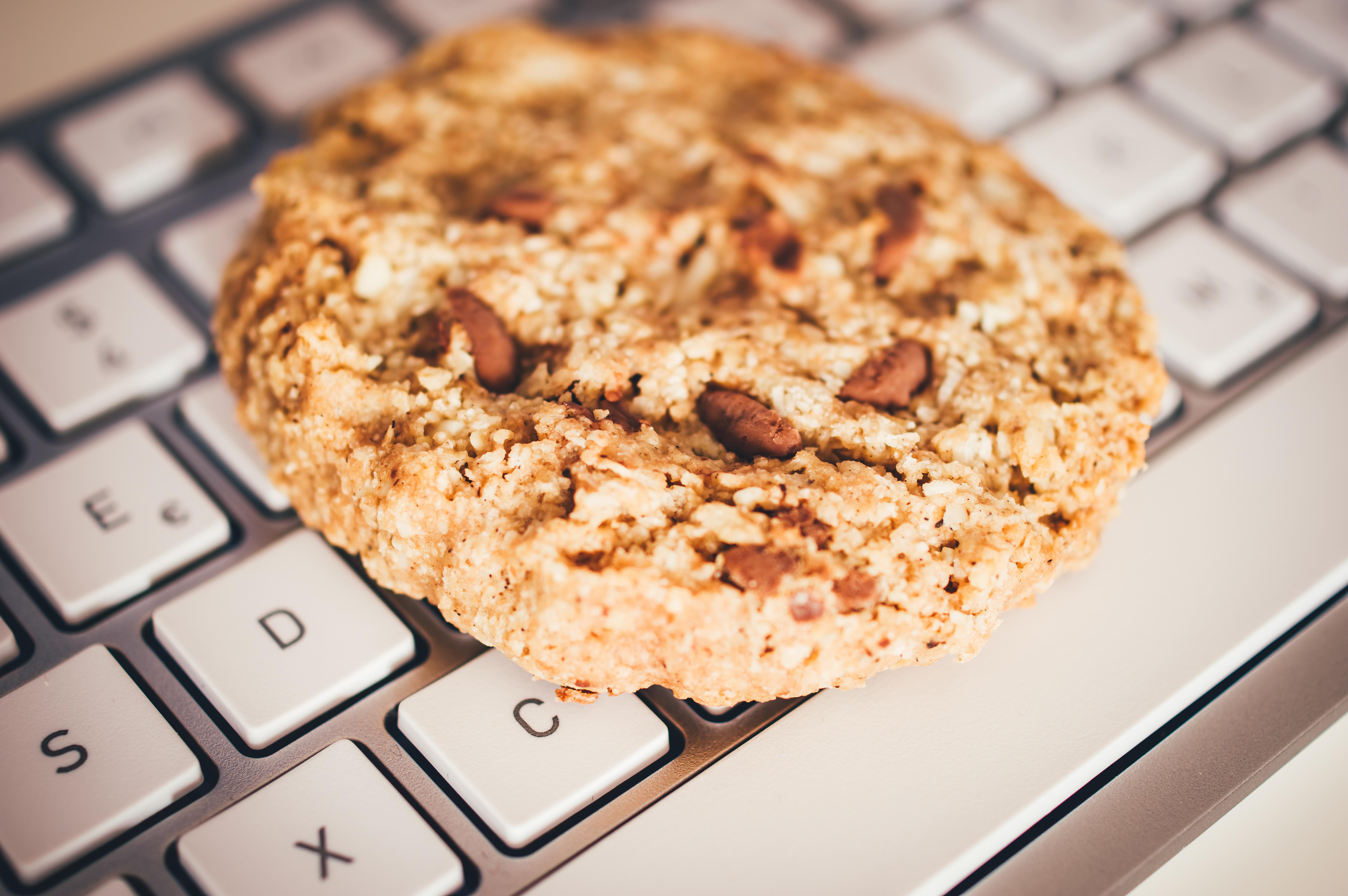 Cookies Mit Einer Tastatur Zur Verdeutlichung Von Cookie Bannern Für Websites