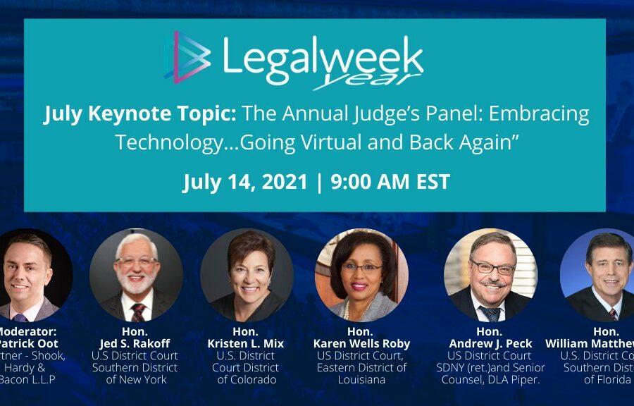 Judicial Panel Legal Week Year